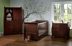 OBaby Stamford Classic 3 piece Room Set Walnut