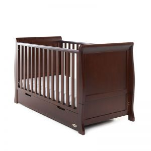 OBaby Stamford Classic Cot Bed & Drawer Walnut