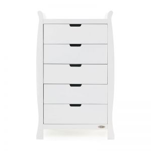 OBaby Stamford Tall Chest of Drawers White