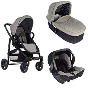 Graco Evo Bundle - Stroller, Carrycot, Car Seat - Slate