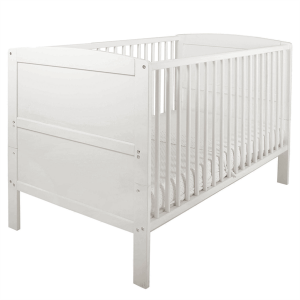 East Coast Hudson Cot Bed White