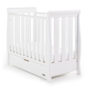 OBABY Stamford Space Saver Cot White