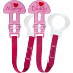 "Mam Soother Clips Pair ""Pink"""