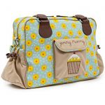 "Pink Lining Yummy Mummy Changing Bag ""Sun Flowers"""