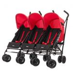 OBaby Mercury Triple Stroller Black/Red