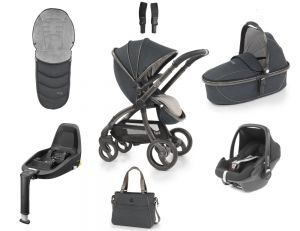 Egg Stroller Luxury Bundle Carbon Grey