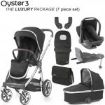 BabyStyle Oyster 3 Luxury Bundle Caviar on City Grey or Mirror Chassis