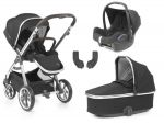 BabyStyle Oyster 3 Essential Bundle Caviar on City Grey or Mirror Chassis