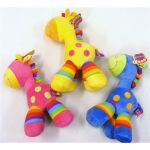 Plush Comical Horse Toy - Pink, Blue or Yellow