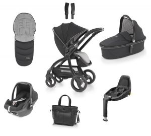 Egg Stroller Luxury Bundle Just Black