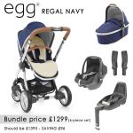 egg Stroller Bundle 7 piece in Regal