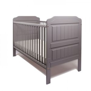 Little Babes Stanley Cot Bed Grey