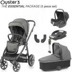 BABYSTYLE Oyster 3 Essential Bundle Mercury on City Grey or Mirror Chassis