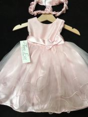 Tara Lee Party Dress Pink 6-12 mths