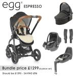 egg Stroller Bundle 7 piece Espresso
