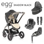 Egg Stroller Luxury Bundle Shadow Black
