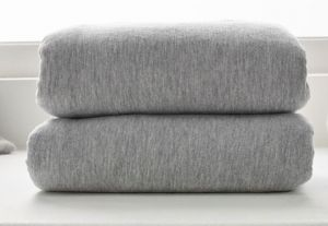 CLAIR DE LUNE Cot Bed Fitted Sheets Grey