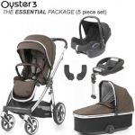 BabyStyle Oyster 3 Essential Bundle Truffle on City Grey or Mirror Chassis