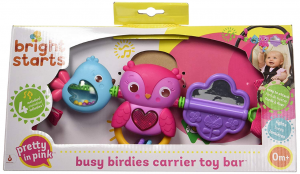 Bright Starts Take Along Pink Carrier Toy Bar