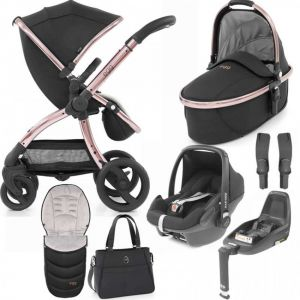 Egg Stroller Luxury Bundle Diamond Black