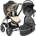 egg Stroller Bundle Kiddy Evo Luna Fix Shadow Black