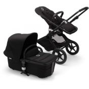 Bugaboo Fox 2 Black Chassis - Choice of hood colour