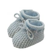 Booties Knitted Grey 0-6 mths