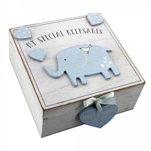 Keepsake Box - Blue Elephant