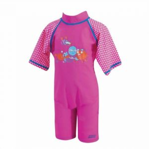 Zoggs Sun Protection UPF Suit Pink 1 - 2 years