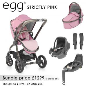 egg Stroller Bundle 7 piece Strictly Pink