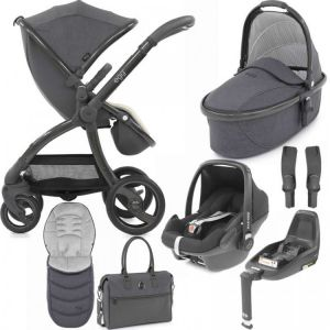 Egg Stroller Luxury Bundle Quantum Grey