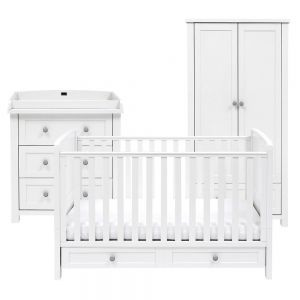 Silver Cross Nostalgia Pure White Furniture Set