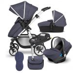 "Silver Cross Pioneer 10 piece Bundle + Isofix Base ""Midnight Blue"""