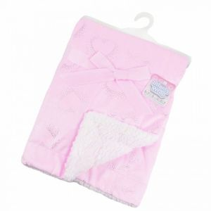 SOFT TOUCH Pink Hearts Blanket