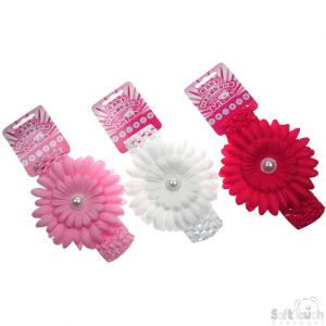 Soft Touch Flower Headband 0-12 mths