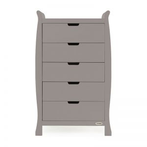 OBaby Stamford Tall Chest of Drawers Taupe Grey