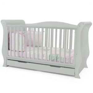 BabyStyle Hollie Cot Bed Grey FREE Deluxe Spring Mattress