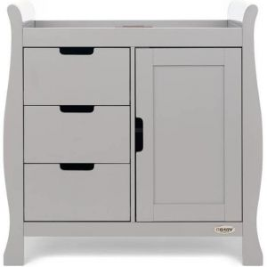OBABY Stamford Closed Changing Unit Warm Grey