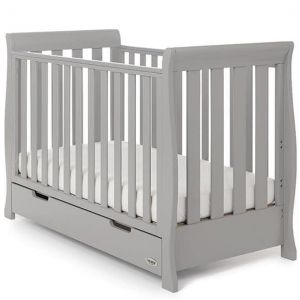 OBABY Stamford Mini Cot Bed Warm Grey