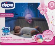 Chicco First Dreams Next 2 Stars Baby Night Light Projector, Pink