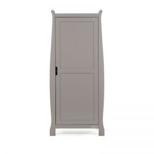 OBABY Stamford Single Wardrobe Taupe Grey