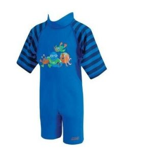 Zoggs Sun Protection UPF Suit Blue 1 - 2 years